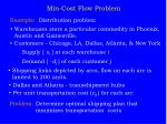 min cost flow problem