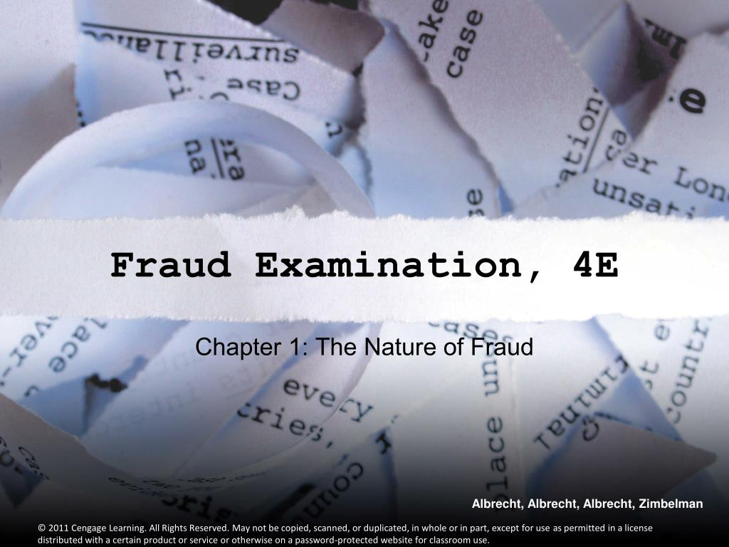 chapter 1 the nature of fraud l.