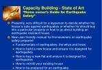 capacity building state of art home owner s guide for earthquake safety