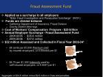 fraud assessment fund