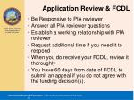 application review fcdl