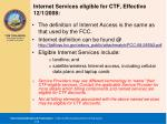 internet services eligible for ctf effective 12 1 2008