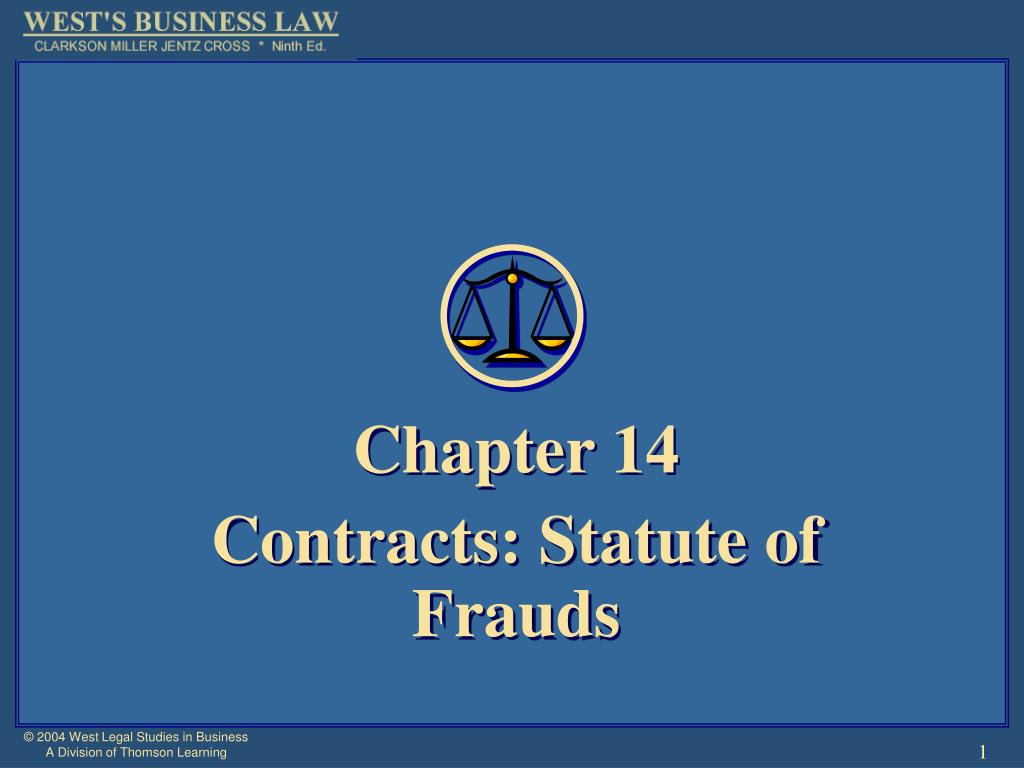 chapter 14 contracts statute of frauds l.