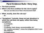 parol evidence rule very imp