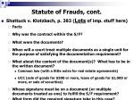 statute of frauds cont6