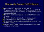 discuss the second coso report