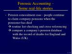 forensic accounting some real life stories