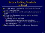 review auditing standards on fraud