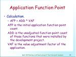 application function point