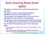 data counting rules must apply