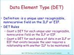 data element type det