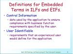 definitions for embedded terms in ilfs and eifs