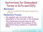 definitions for embedded terms in ilfs and eifs13