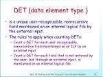 det data element type