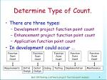 determine type of count