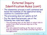 external inquiry identification rules cont