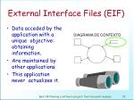 external interface files eif