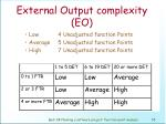 external output complexity eo