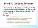 identify counting boundary