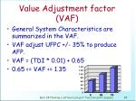 value adjustment factor vaf