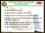 defense comptrollership program dcp