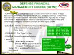 defense financial management course dfmc