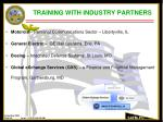 training with industry partners