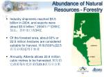 abundance of natural resources forestry