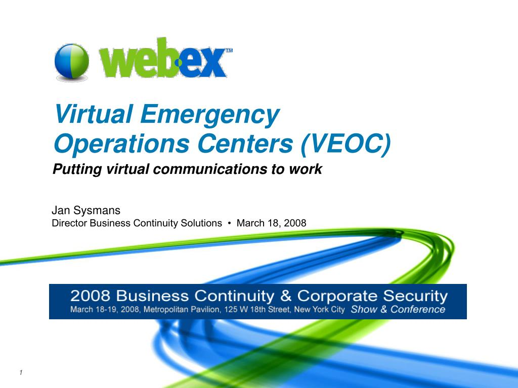 virtual emergency operations centers veoc l.