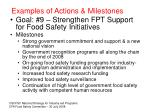 examples of actions milestones40