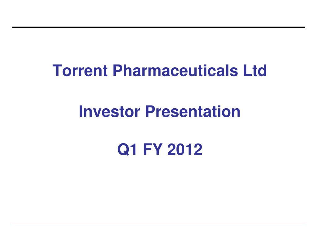 torrent pharmaceuticals ltd l.