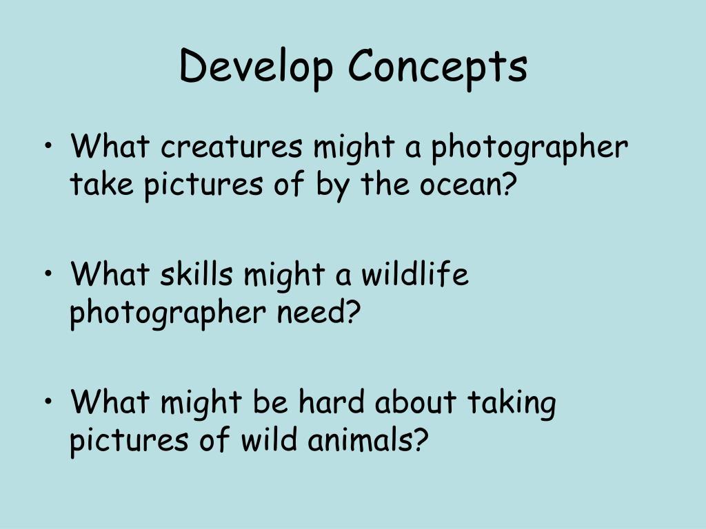develop concepts l.