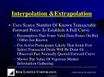 interpolation extrapolation37
