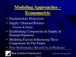 modeling approaches econometric