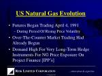 us natural gas evolution