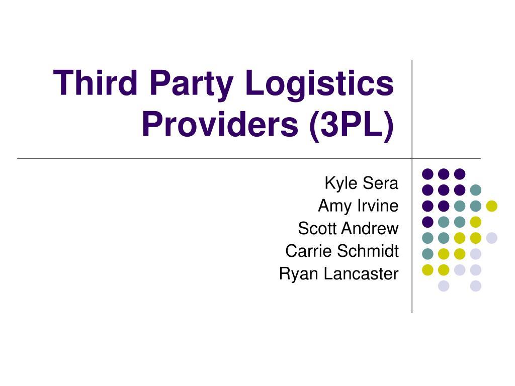 third party logistics providers 3pl l.