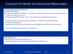 construct the model and associated messengers