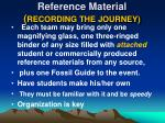 reference material recording the journey