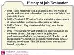 history of job evaluation