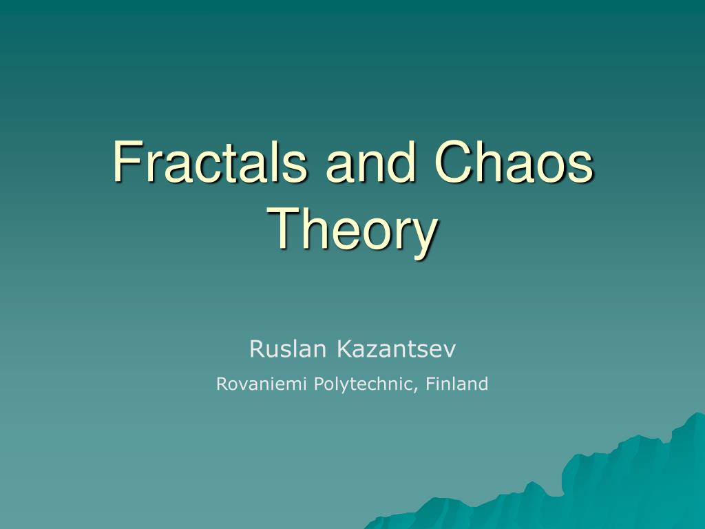fractals and chaos theory l.