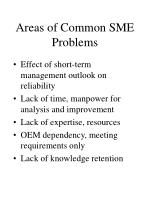 areas of common sme problems