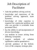job description of facilitator