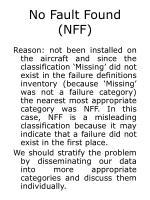 no fault found nff