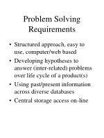 problem solving requirements