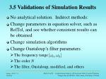 3 5 validations of simulation results