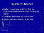 equipment needed