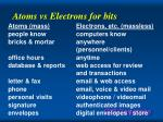 atoms vs electrons for bits