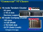 commercial nt clusters