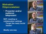 motivation telepresentations
