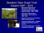 seedless table grape trials support 2007 2010